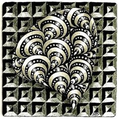 Certified Zentangle Teacher Margaret Bremner: Tangles: Bunzo and Demi