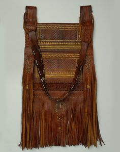 tooled leather bag, moroccan bag, leather bags, fez bag