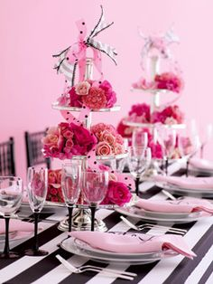 black white and pink theme
