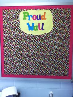 A board open for students to display ANYTHING they are proud of: work, pictures, drawings, etc. What do you like to put on your bulletin boards?
