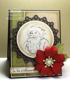 Inspired by Christmas; Poinsettia Die-namics; Sentiment Strips 2 Die-namics; Dainty Doily Die-namics; Pierced Circle STAX Die-namics - Jodi Collins