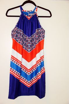 Bright patterned dress