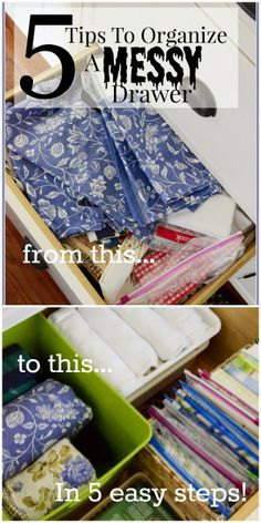 5 Tips to organize almost anything in your home... stonegableblog.com