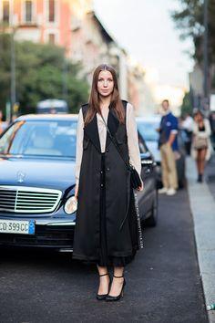 long black. #JosephineAune in Milan.
