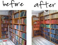 Books rearranged by color, by Jamie Meares  _1, via Flickr.