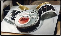 drum set, music cake, birthday cake, drum cake