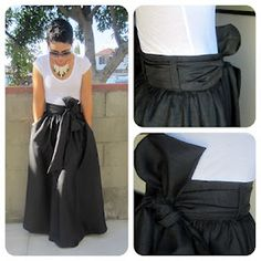 Tutorial for maxi skirt with great bow