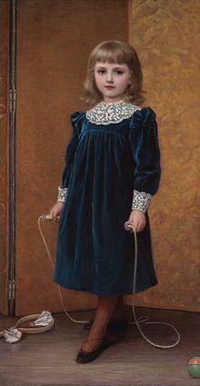 1892, dresses, art, aura, dora, children, kate perugini, paint, portraits