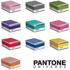 Pantone Boxes + Books little boxes, tin boxes, storage boxes, color, panton box, pantone, design