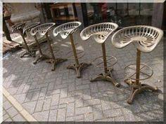 """Hocker - Barhocker Modell """"Treckersitz"""" Gusseisen Barstuhl - ein Designerstück von SynapsEyes bei DaWanda"""