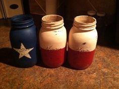 Texas painted jars