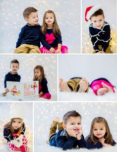 Sibling Christmas Portraits