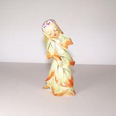 Vintage Acme Orange Dancing Leaf Fairy Figurine by filigreefairy, $24.00