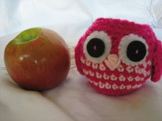 Hot Pink Owl Apple Cozy-Christmas gift for teachers and secretarys. $13.00, via Etsy.