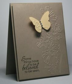 Stampin' Up! Flower Garden Embossing Folder & Beautiful Wings Embosslit
