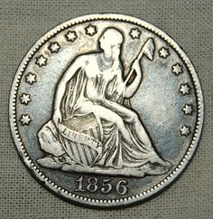 Silver 1856O Seated Liberty Half Dollar F Plus by CoinCreativity, $75.25