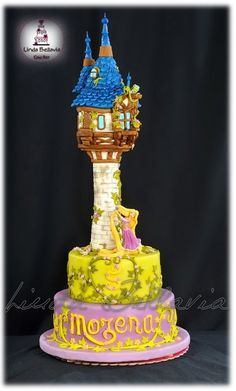 tower cakecut, towers, rapunzel's tower cake, cakes, disney, rapunzel tower