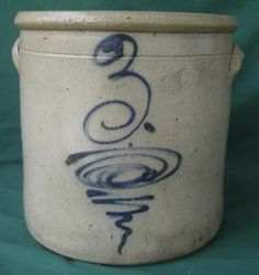 3 Gallon Redwing Bee Sting Stoneware Crock Cobalt Blue Salt Glaze