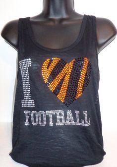 I Heart Bengal Football Tank