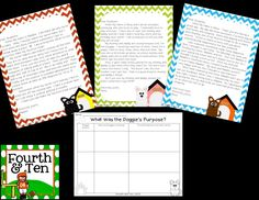 Sunny Days in Second Grade: author's purpose freebie