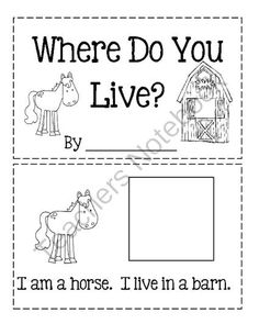 Where Do You Live? from Angie's  Page  For Young Learners on TeachersNotebook.com -  (5 pages)  - Cut And Paste Book