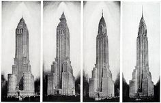 The evolution of the design of the Chrysler Building
