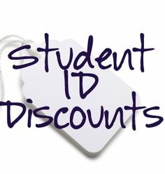 Places that you can get discounts just by showing your student ID...this has not only food places, but clothing stores, beauty items, etc. Good to know!!!