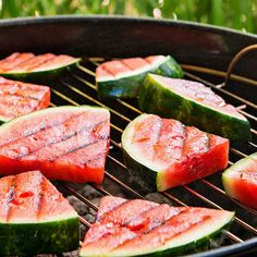 Show off your outdoor skills with this Grilled Watermelon and Haloumi Salad