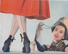 ff fully fashioned seamed nylon stockings nylons