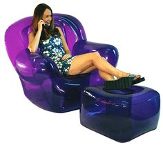 Blow-up furniture. I think I had this exact set, same color too.
