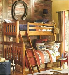 Maybe landon and wyatt can share a room so we can have this :) or we just have more babies ;) Cowboy bunk beds cowboy-room