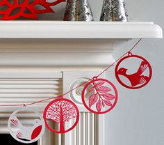 Paper cut-out garland.