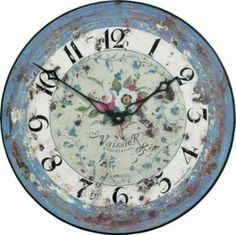 French Floral Wall Clock - 36cm