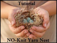 yarn easter, easter nest, knit yarn, fluffi yarn