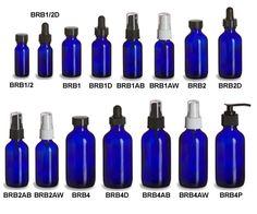 Specialty Bottle - Cobalt Blue Boston Round Glass Bottles
