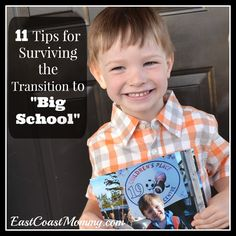 11 Tips for Preparing Kids for Starting School... #3 is a must read and #8 is my favorite