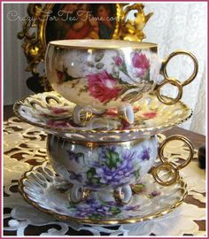 Pretty china cup and saucer.