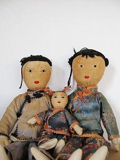 Vintage doll family #vintage #kitsch