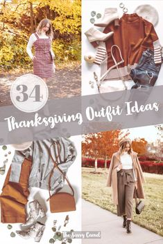 34 Different ideas of what to wear to Thanksgiving. Chic Thanksgiving outfit, classic Thanksgiving outfit, trendy Thanksgiving outfit, casual Thanksgiving outfit, dressy Thanksgiving outfit