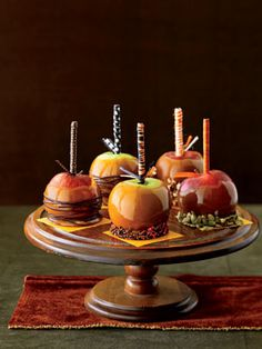 Caramel Apples: These yummy caramel apples evoke memories of festive fall fairs. After dipping, decorate with sprinkles, chocolate and nuts for an extra sweet treat!