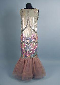 Deco Sequined Evening Dress, 1920s