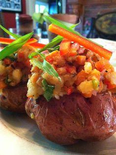 Confetti Twice-Baked Red Potatoes! Gluten Free, Vegan, Body Ecology Diet
