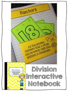 This Division Interactive Notebook has thirteen different activities that help students to understand the foundations of division.