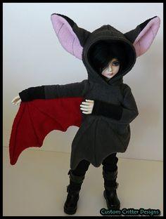 Bad bat hoodie on doll