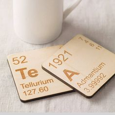 Chemical coasters for science geeks. Love!