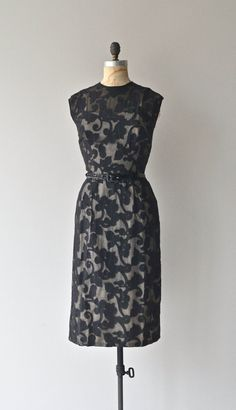 Belladonna sheath dress vintage 1950s dress black by DearGolden