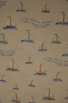 Sailboat Fabric, Baby Blue, Susan Branch Baby Love
