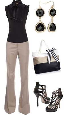 Black and Taupe