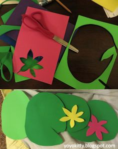 Weird Animals VBS decor ideas - lily pads for frog decor ( Nursery)