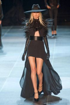 Saint Laurent Spring 2013 Ready-to-Wear Runway - Saint Laurent Ready-to-Wear Collection - ELLE